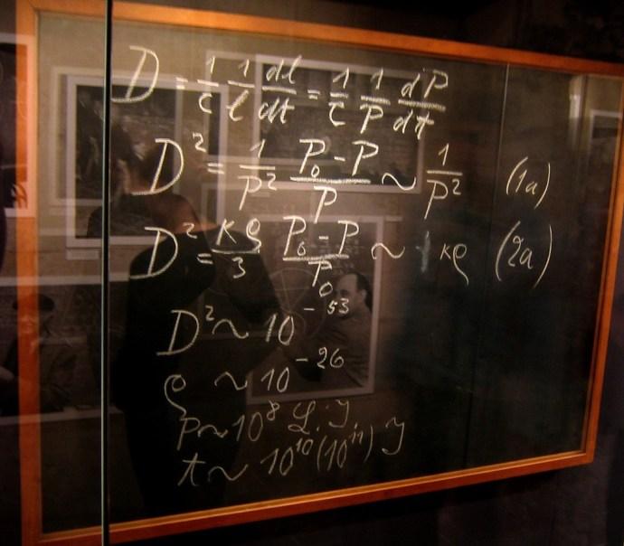 Einstein's blackboard from 1931