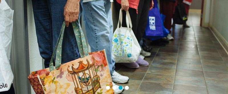 Keep Austin Fed people with food bags