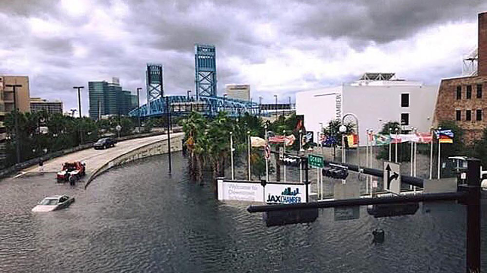 Jacksonville flooding in 2017