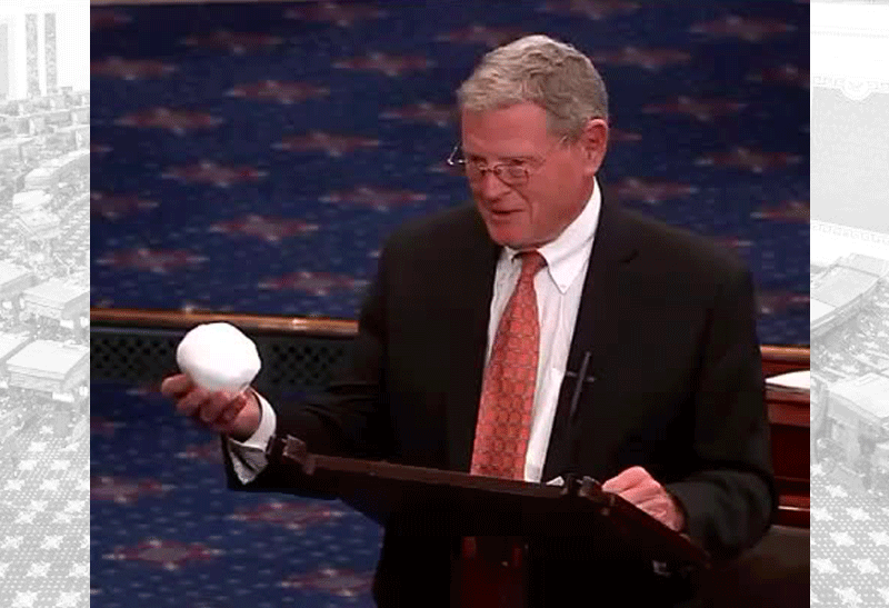 Inhofe with snowball