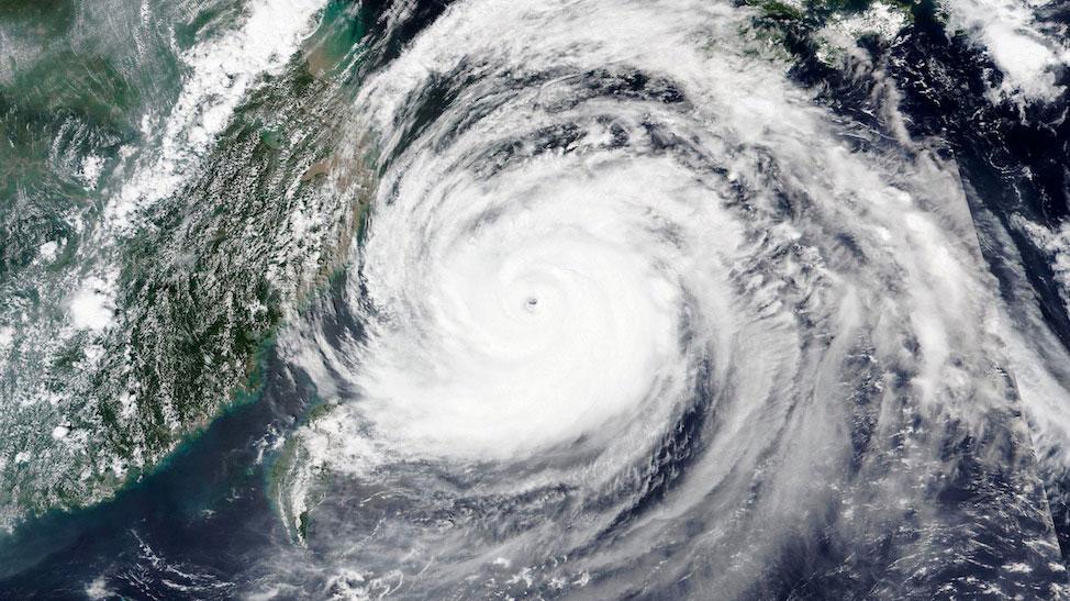 NASA satellite image of Maysak