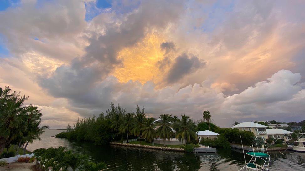 Grand Cayman Island storm clouds