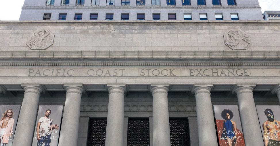 Stock exchange building