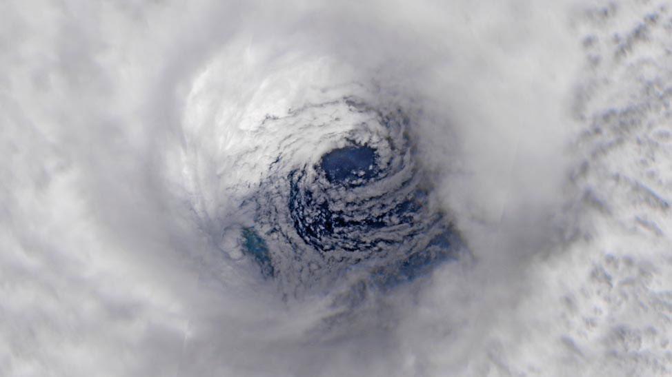 Eye of Hurricane Iota
