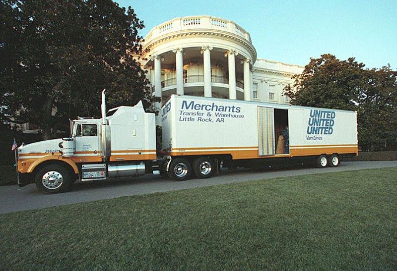 Whitehouse moving truck
