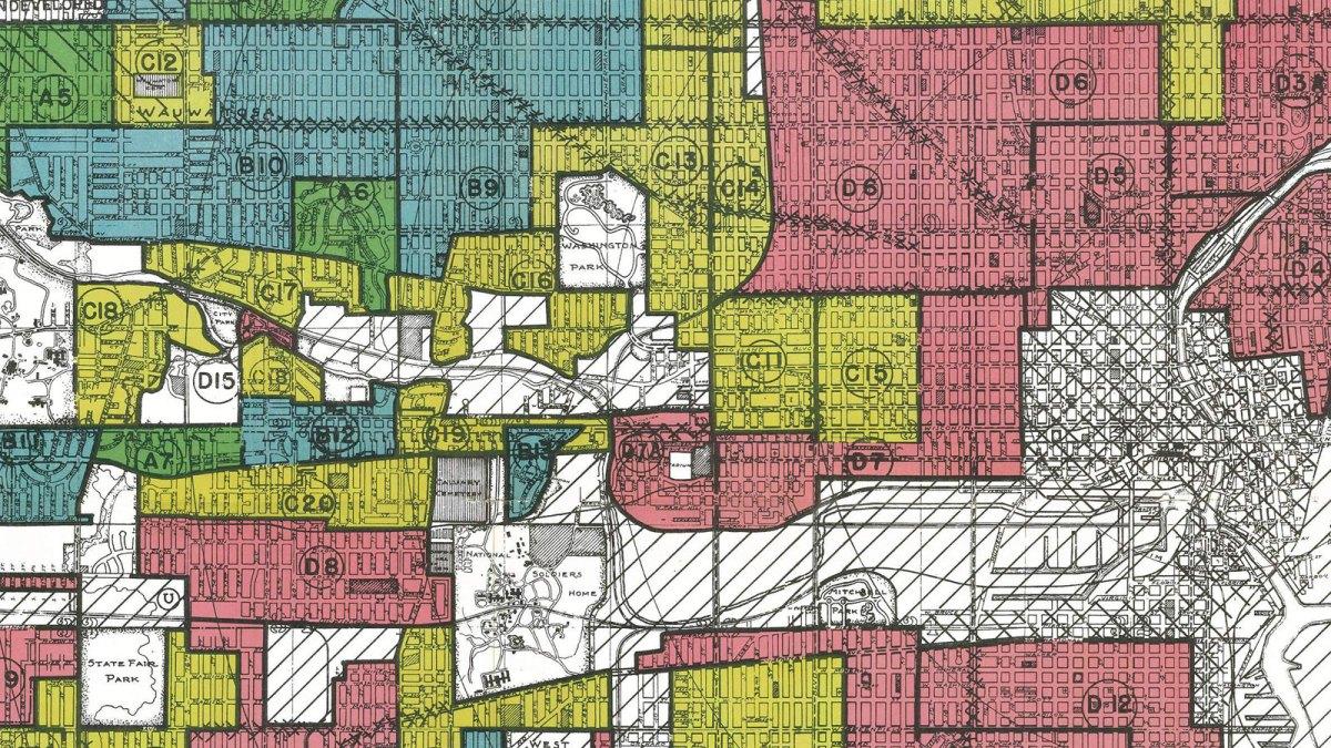 Redlining map of Milwaukee