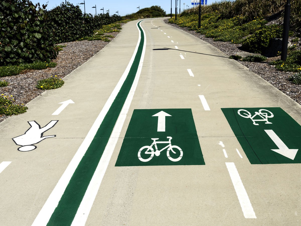 Pedestrian and bike lanes