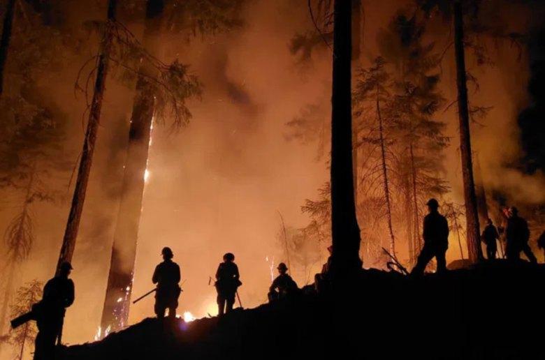 Firefighters in California September 2020