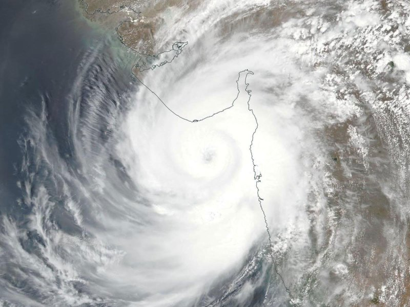 Satellite image of Tauktae