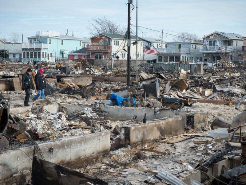 Damage by Hurricane Sandy