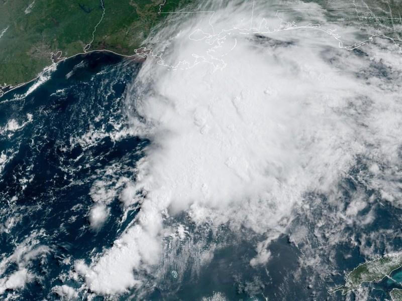 Visible satellite image