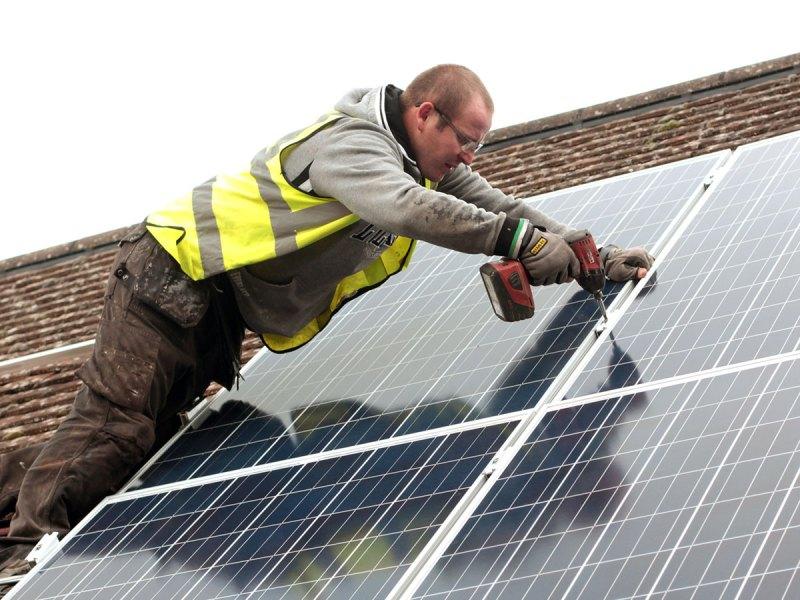 Installing solar panels