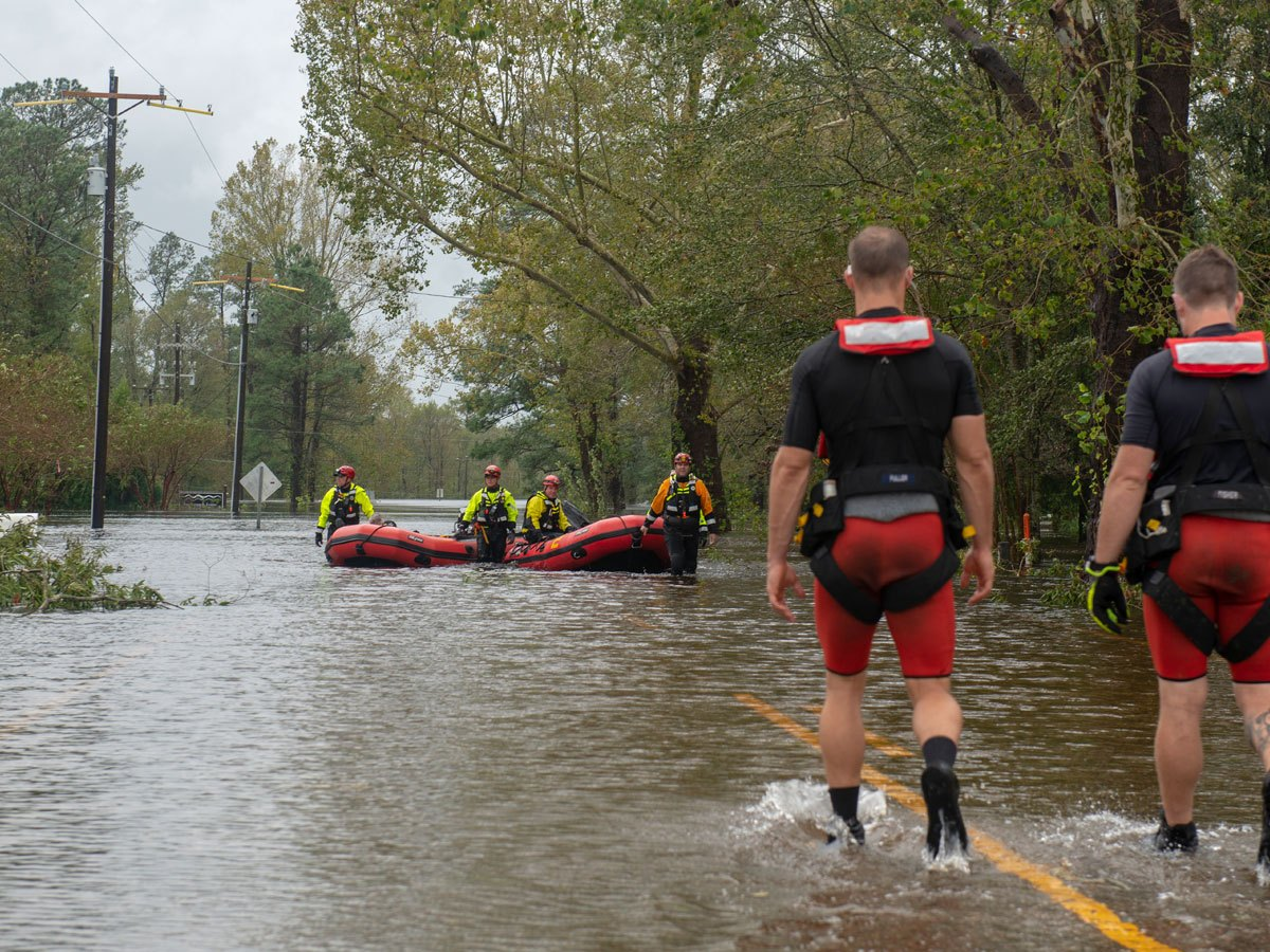 Rescue from flooding