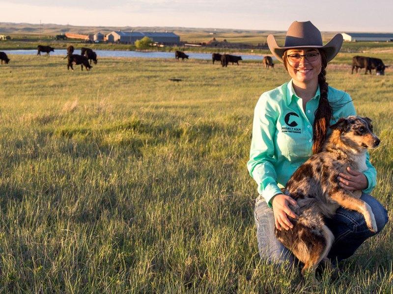 Kelsey Ducheneaux-Scott on her ranch