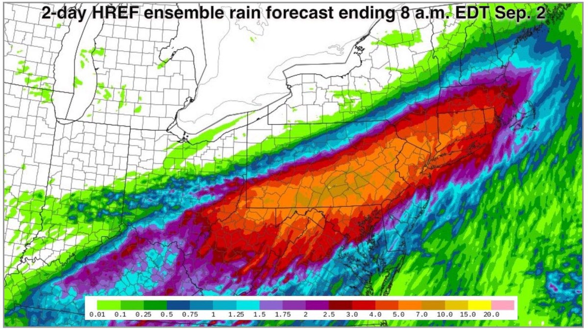 Rainfall forecast