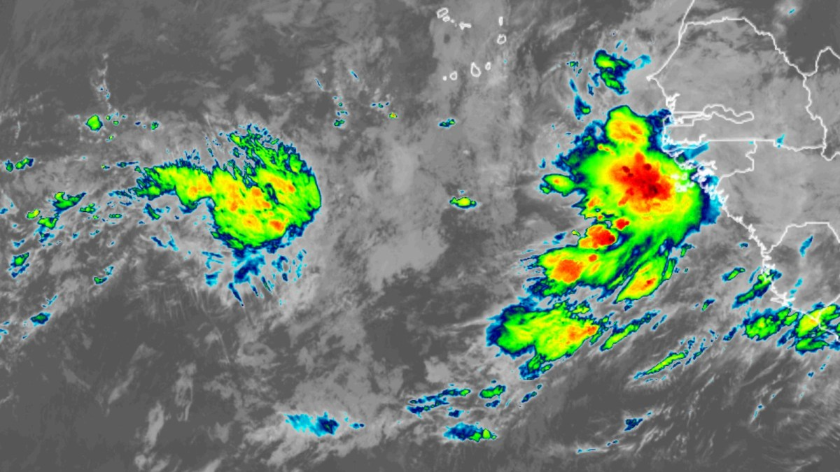 Satellite image of eastern tropical Pacific.