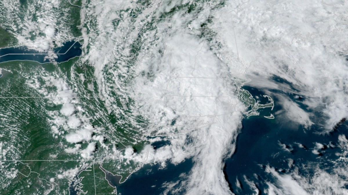 Satellite image of TD Henri