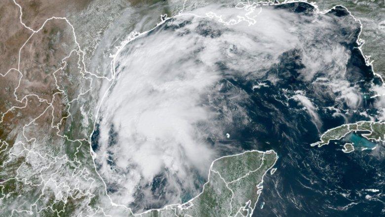 Satellite image of TS Nicholas