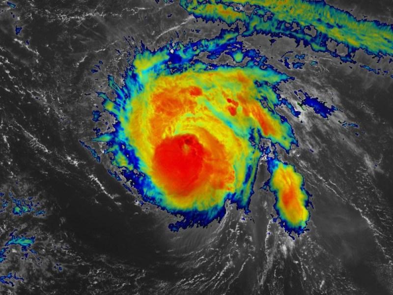 Satellite image of Hurricane Sam