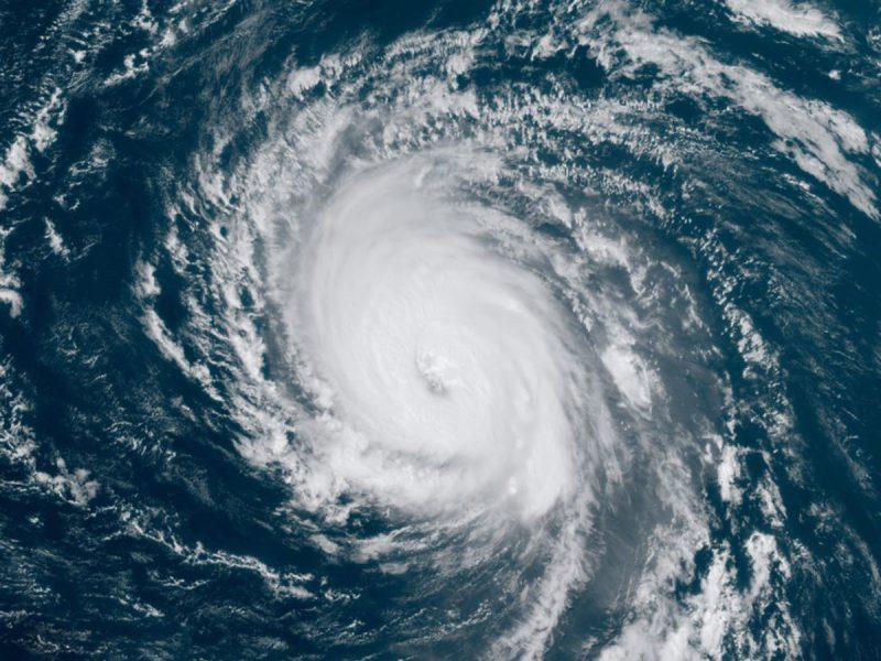 Satellite image of Larry on 9/4/21
