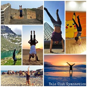 Yale Club Gymnastics Handstands Worldwide