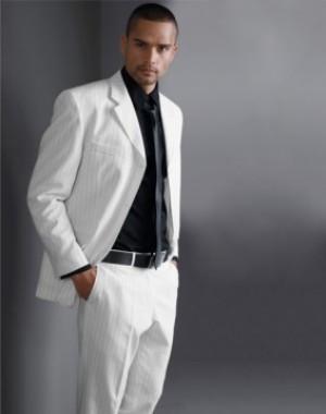 Молодежные пиджаки мужские (белый)
