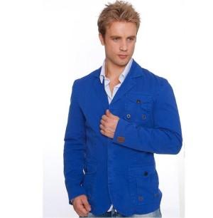 Мужские пиджаки молодежные (синий)