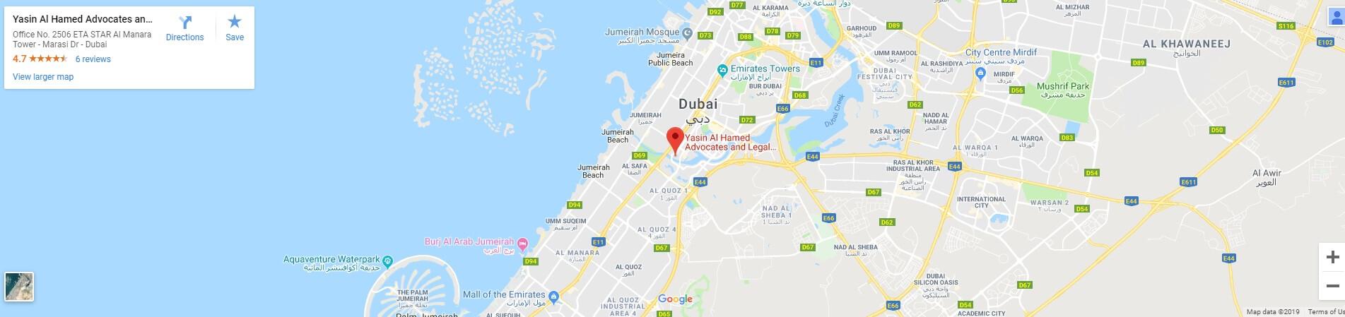 Google Map yasin Al Hamed Advocates and Legal Consultants