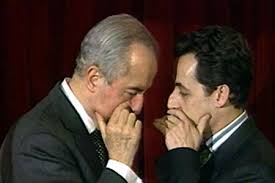 File photo of Lebanese French businessman Ziad Takieddine and former French president Sarkozy'