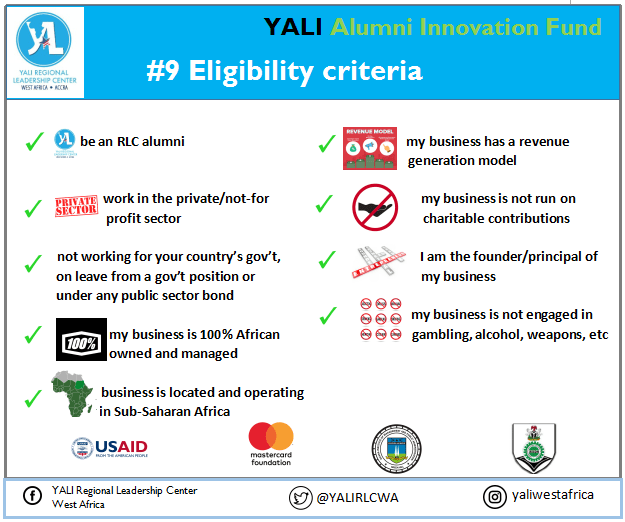 Applications for YALI Alumni Innovation Fund Open