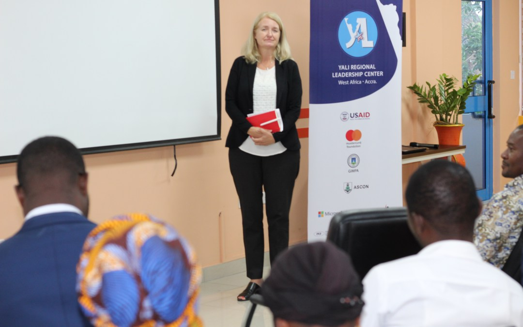 Mastercard Foundation's Kim Kerr pays Official Visit to YALI RLC West Africa