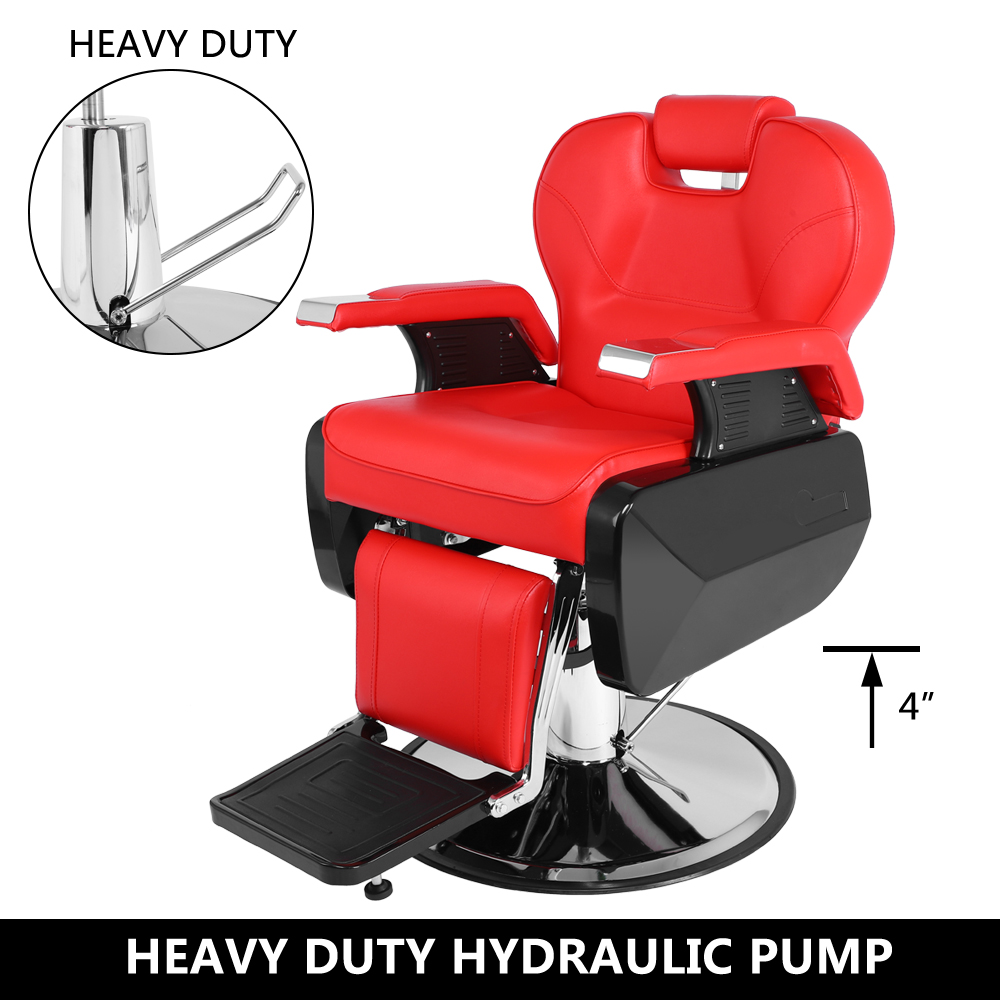 Red Barber Chair Details About Red Recline Hydraulic Barber W Chair Styling Stations Salon Beauty Spa Furniture