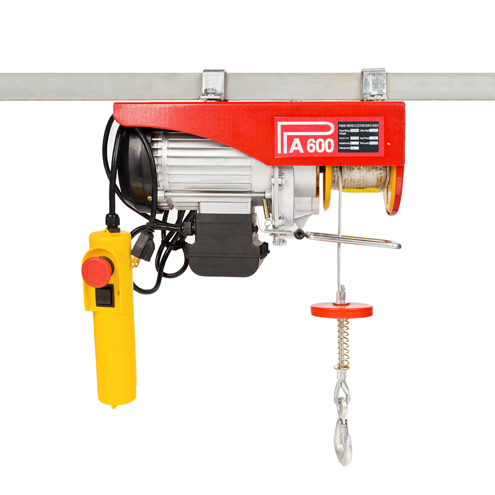hight resolution of 1320lb mini electric wire cable hoist winch crane lift overhead remote control