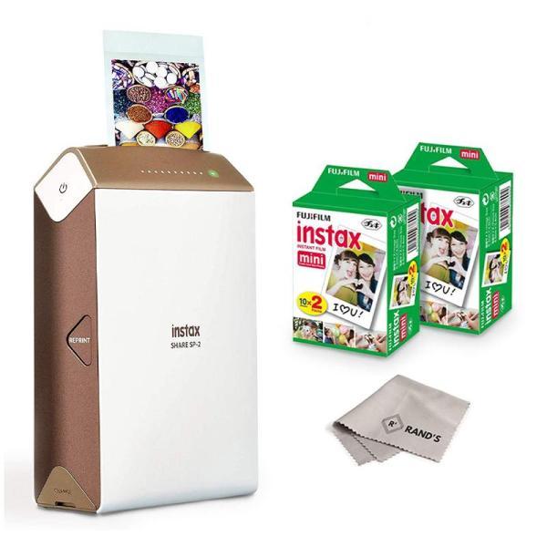 Fujifilm Instax Share SP-2 Mobile Printer (Gold) - www.yallagoom.com.qa