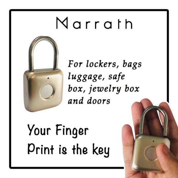 Marrath Smart Home Finger Print Padlock - www.yallagoom.com.qa