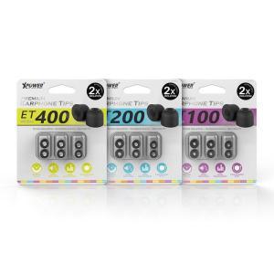 Xpower Premium Earphone Tips - Black-Yallagoom.com.qa