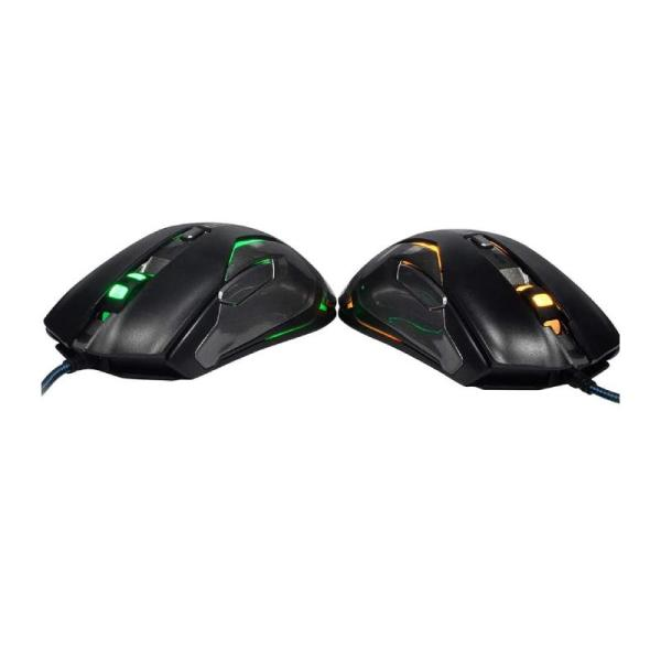Auroza RGB 8200DPI Laser sensor gaming mouse (Black)-yallagoom.com.qa