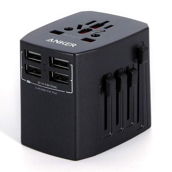 ANKER UNIVERSAL TRAVEL ADAPTER WITH 4 USB PORTS-Yallagoom.com.qa