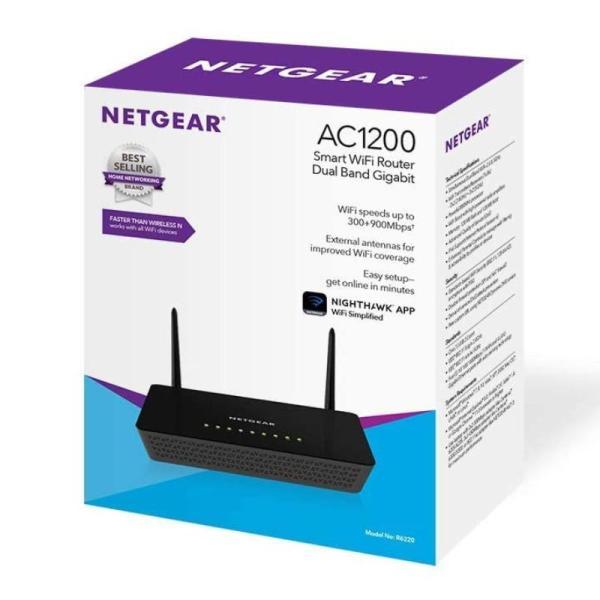 Netgear Wifi Router R6220 Ac-1200 Smart With External Antennas-yallagoom.com.qa