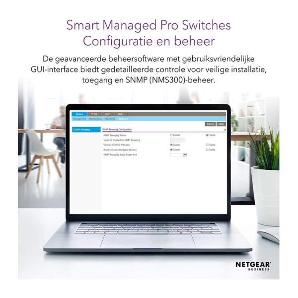 Netgear Networking Switch 24-Port Gb Ethernet Smart Man Pro Poe Switch-yallagoom.com.qa