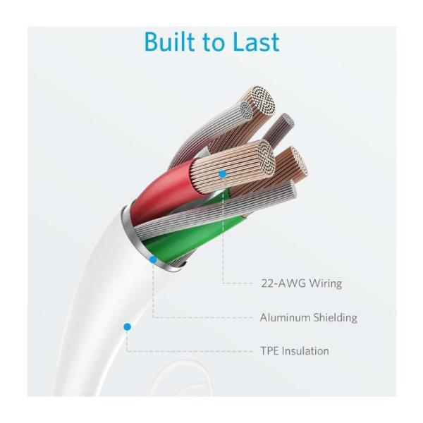 Anker PowerLine II Lightning Cable (6FT) - 1.8M-Yallagoom.com.qa