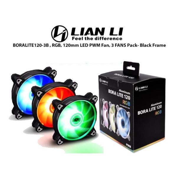 LIAN LI DIGITAL RGB FAN BLACK 3 FAN PACK-yallagoom.com.qa