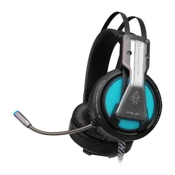 E-blue 7.1-Channel Gaming headset (Grey)-yallagoom.com.qa