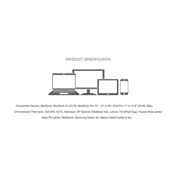 Grenoplus USB C to Mini DisplayPort Adapter Silver-Yallagoom.com.qa