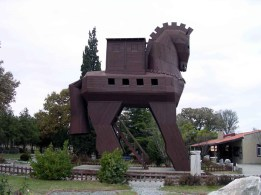 replica of the Wooden Horse, Troy, Turkey