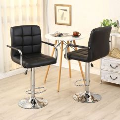 Hair On Hide Office Chair Leather Recliner Chairs 2 Pack Swivel Bar Stool Pu Modern Adjustable