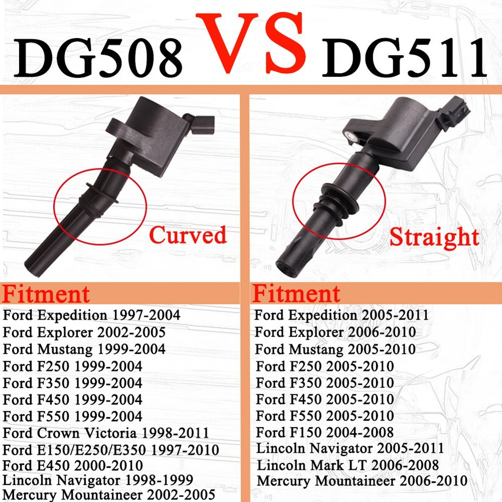 hight resolution of 8 pack ignition coil dg511 for ford f 150 lincoln mercury 4 6l 5 4l v8