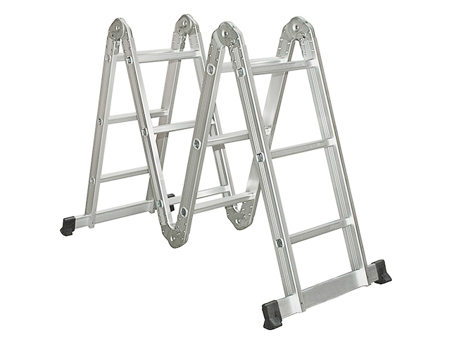 10.5-16.5FT Simple Aluminium Foldable Extension Ladder