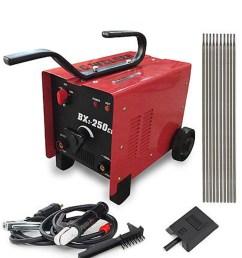 bx1 250c1 arc welder 110 220v ac welding machine 250 amp mask accessories red [ 1000 x 1000 Pixel ]