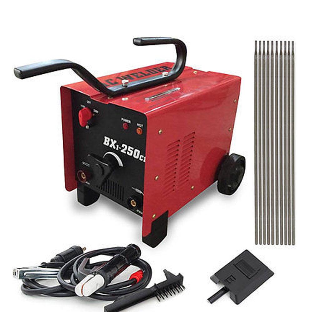 hight resolution of bx1 250c1 arc welder 110 220v ac welding machine 250 amp mask accessories red